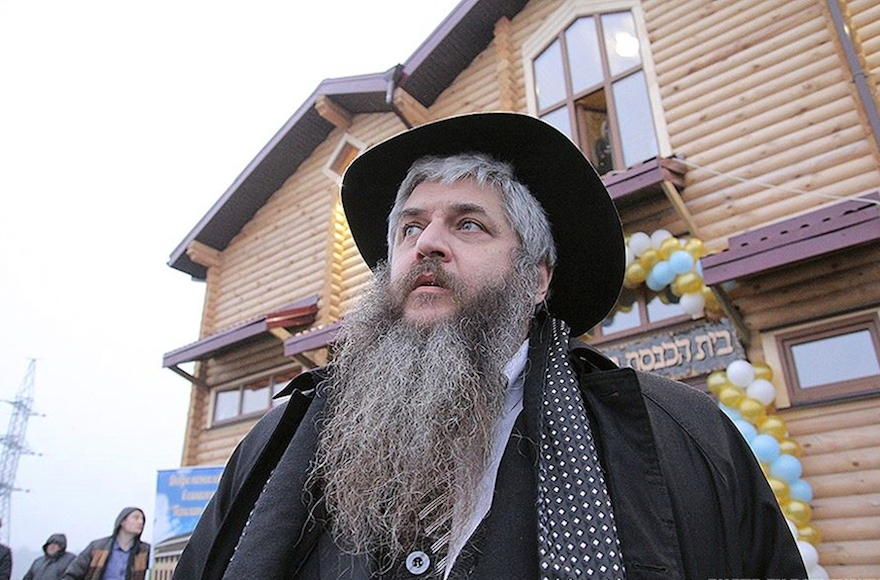 Rabbi Moshe Azman, the founder of the Anatevka community near Kiev, on Feb. 29, 2016. (R. Litevsky/Courtesy of the office of Rabbi Moshe Azman)