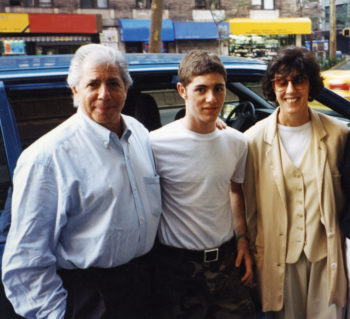 From left: Carl Bernstein, Jacob Bernstein and Nora Ephron in an undated photo. (Courtesy of HBO)