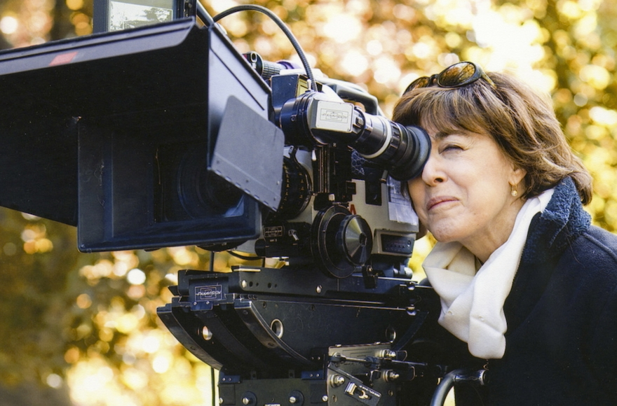 Nora Ephron — the subject of a new documentary made by her son — behind the camera in an undated photo. (Courtesy of HBO)