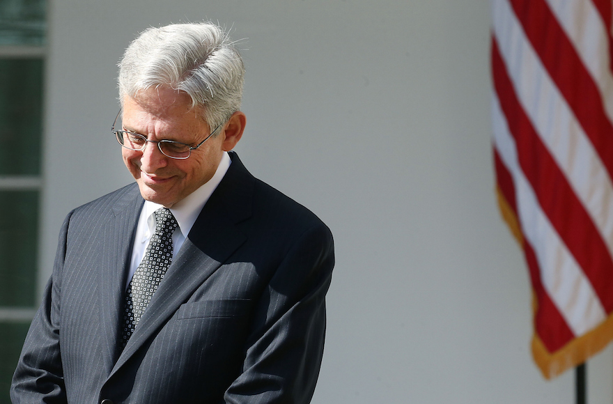 Judge Merrick Garland at the White House listening to President Barack Obama announce his nomination to the Supreme Court, March 16, 2016. (Mark Wilson/Getty Images)