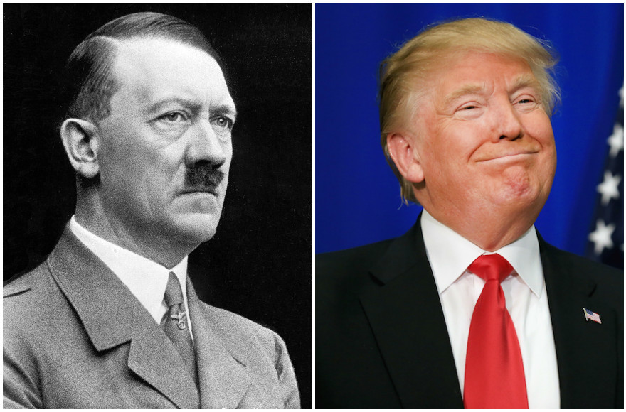 Donald Trump has drawn several comparisons to the Fuhrer in recent days. (Wikimedia Commons, Tom Pennington/Getty Images)
