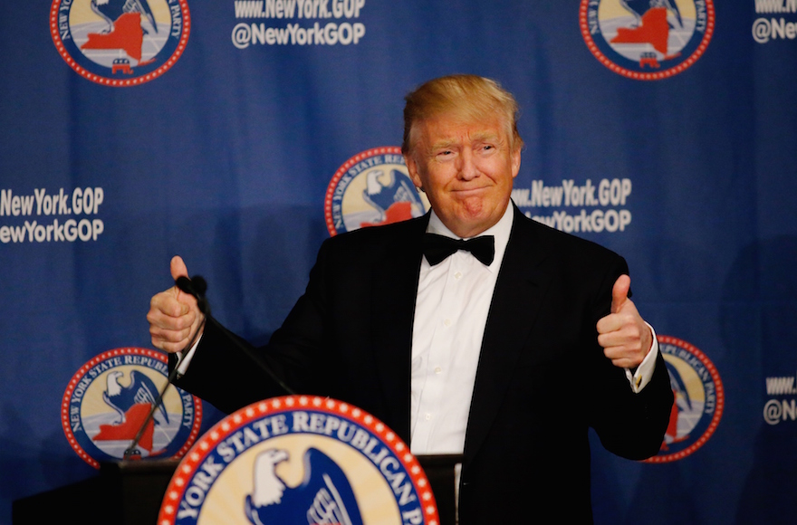 Donald Trump attending the 2016 the New York State Republican Gala in New York City, April 14, 2016. (Eduardo Munoz Alvarez/Getty Images)