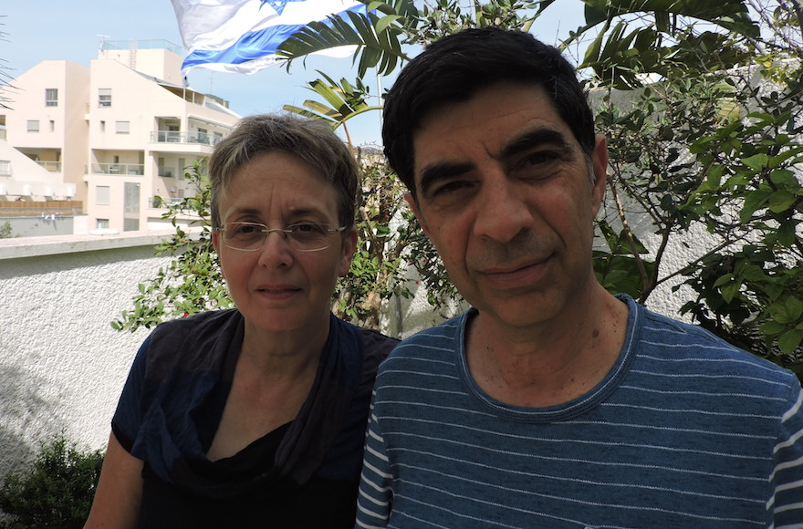 Simcha and Leah Goldin have embarked on a ceaseless campaign to retrieve the body of their son, Hadar, from Gaza. He was captured and killed in a clash at the southern end of the strip on Aug. 1 2014. (Ben Sales)