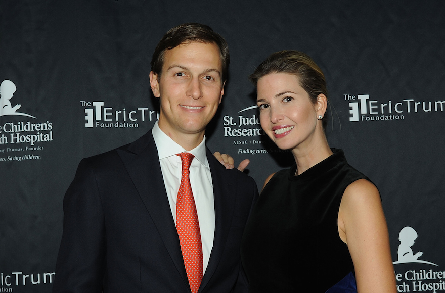 Jared Kushner and his wife Ivanka Trump at the Trump National Golf Club in Westchester, New York, Sept. 21, 2015. (Bobby Bank/WireImage/Getty Images)
