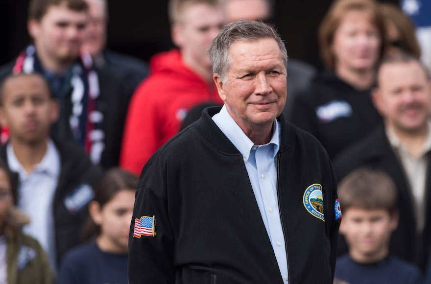John Kasich at a campaign rally at the Franklin Park Conservatory in Columbus, Ohio, March 6, 2016. (Ty Wright/Getty Images)