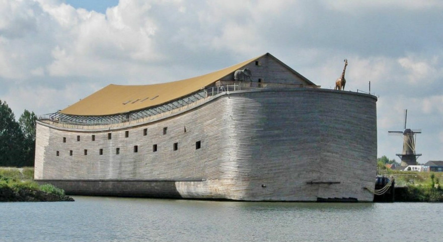 Ark of Noah,a Dutch Christian organization, is planning to sail a  life-size replica  of Noah's Ark to reach Brazil during the Olympic and Paralympic Games.(Photo courtesy of Ark of Noah Foundation)