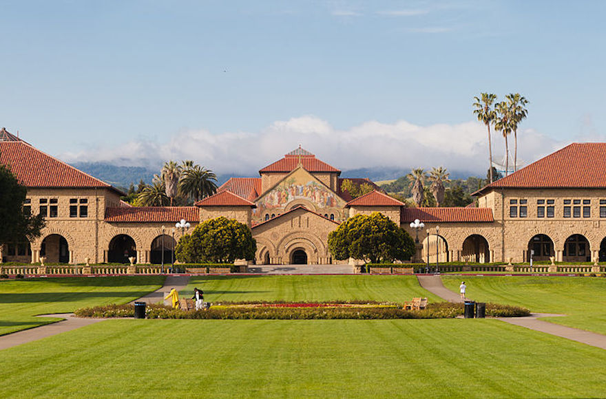 The main quadrangle of Stanford University (Wikimedia Commons)