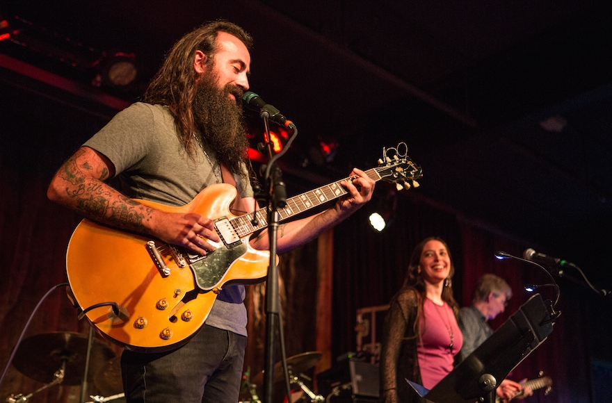 Ross James, a member of Phil Lesh and Friends, singing with Jeanette Ferber. (Jamie Soja)
