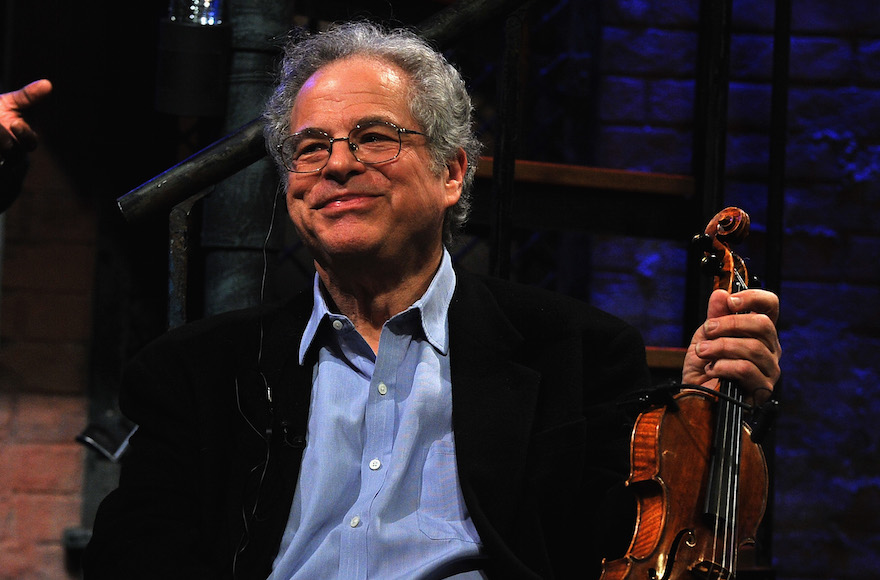 "Itzhak Perlman appearing on ""Late Night with Jimmy Fallon"" at Rockefeller Center in New York City, Feb. 25, 2011. (Theo Wargo/Getty Images)"