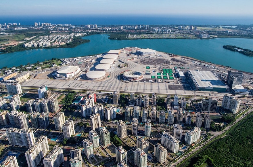 An ariel view of the Rio 2016 Olympic Park, which will be secured in part by an Israeli high-resolution imaging satellite.(Photo courtesy Rio 2016)