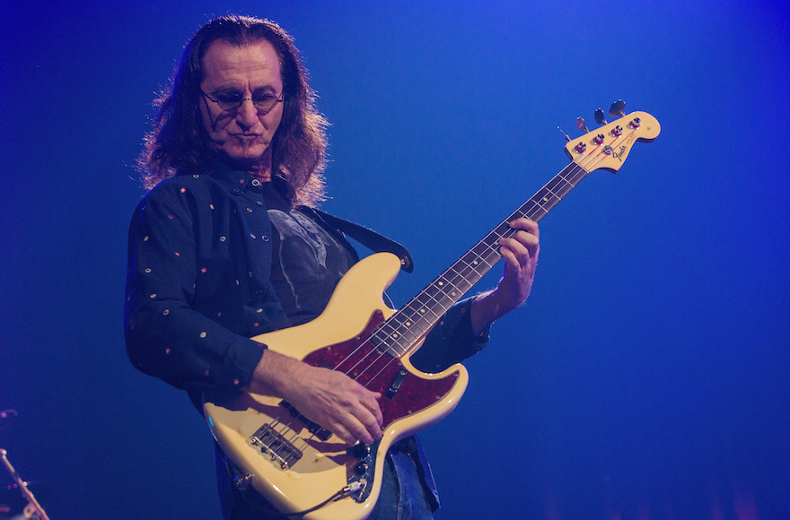 Geddy Lee performing with Rush at the KeyArena in Seattle, July 19, 2015. (Mat Hayward/Getty Images)