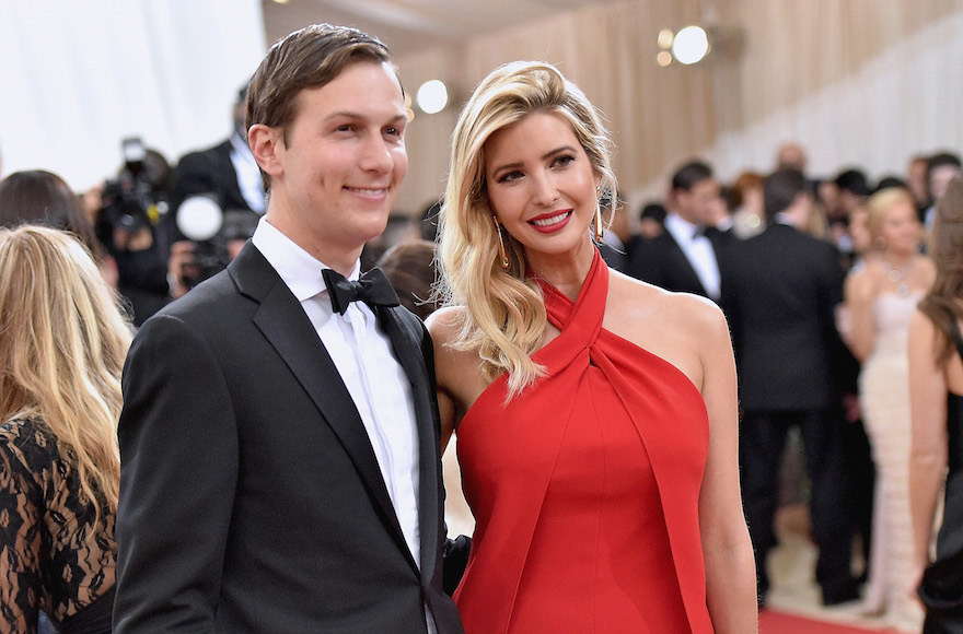 "Jared Kushner and wife Ivanka Trump attending the ""Manus x Machina: Fashion In An Age Of Technology"" Costume Institute Gala at Metropolitan Museum of Art in New York City, May 2, 2016. (Mike Coppola/Getty Images for People.com)"