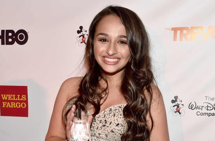 Jazz Jennings poseing with the Trevor Project Youth Award during TrevorLIVE LA 2015 at Hollywood Palladium in Los Angeles, California, Dec. 6, 2015. (Alberto E. Rodriguez/Getty Images for Trevor Project)