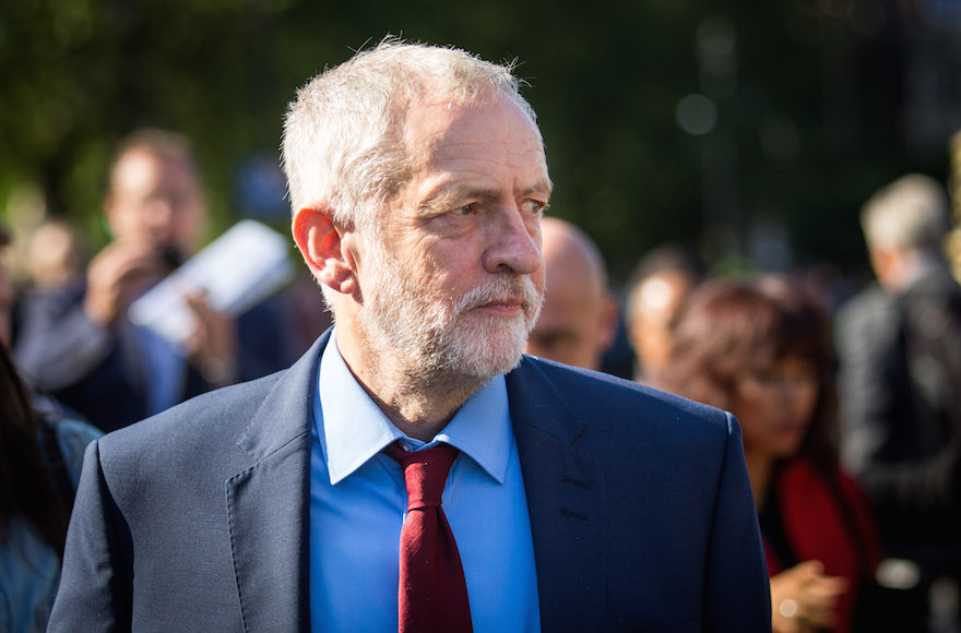 Jeremy Corbyn, leader of the Labour Party, outside the Houses of Parliament in London after the United Kingdom voted to leave the European Union, June 24, 2016. (Rob Stothard/Getty Images)