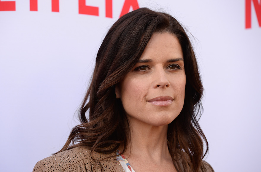 Neve Campbell arriving at the Netflix Emmy Season Casting Event at the Paramount Theatre in Hollywood, California, June 13, 2016. (Amanda Edwards/WireImage)