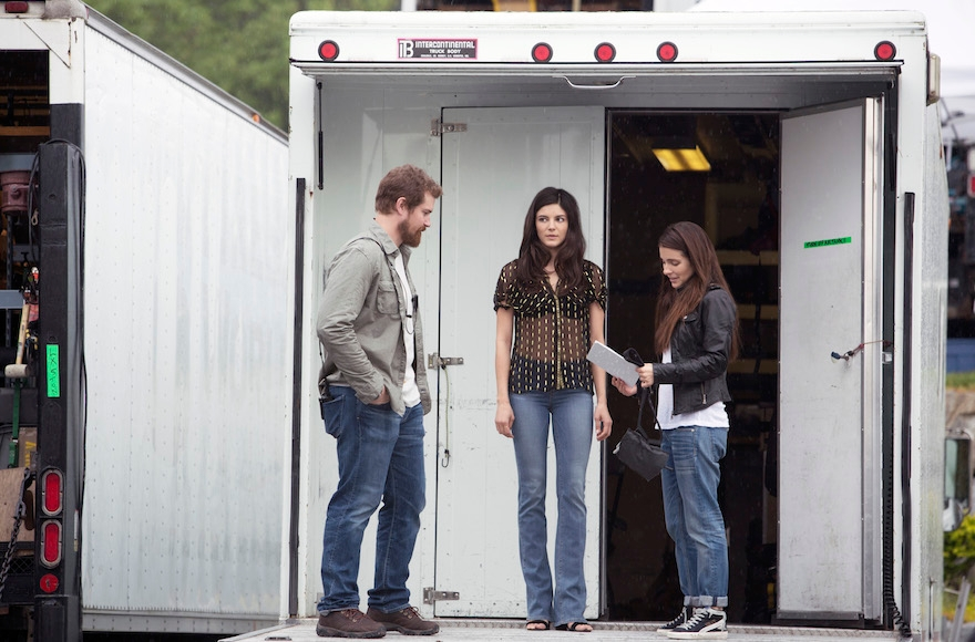 "From left: Josh Kelly, Monica Barbaro and Shiri Appleby star in Season 2 of Lifetime's ""UnREAL"" airing Mondays at 10 p.m. (Bettina Strauss)"