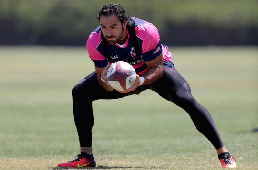 Nate Ebner at the Olympic Training Center on in Chula Vista, California, July 14, 2016. (Sean M. Haffey/Getty Images)