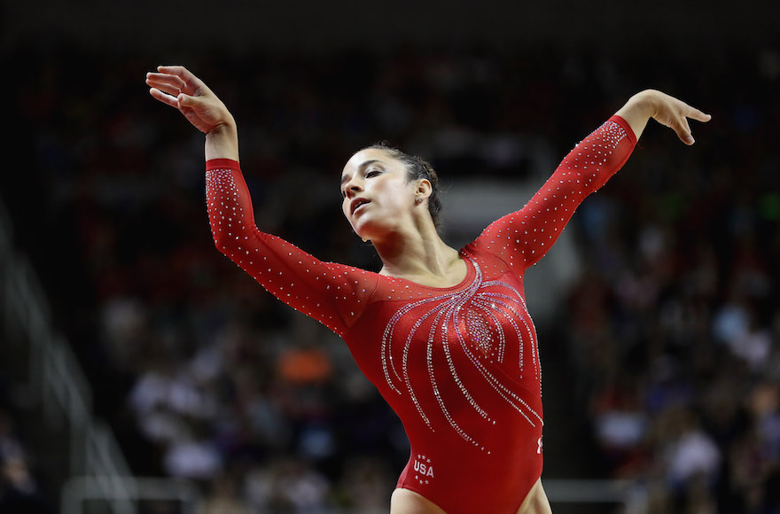 SAN JOSE, CA - JULY 10: Alexandra Raisman competes in the floor exercise during Day 2 of the 2016 U.S. Women's Gymnastics Olympic Trials at SAP Center on July 10, 2016 in San Jose, California. (Photo by Ezra Shaw/Getty Images)