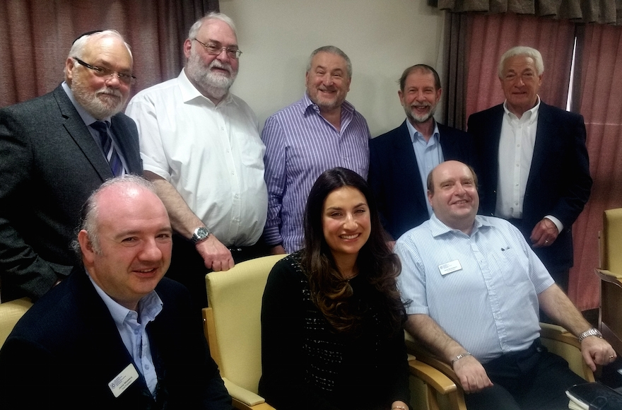 British lawmaker Luciana Berger meeting members of the Jewish Representative Council of the Manchester area, May 8, 2016. (Courtesy of the Jewish Representative Council of Greater Manchester and Region)