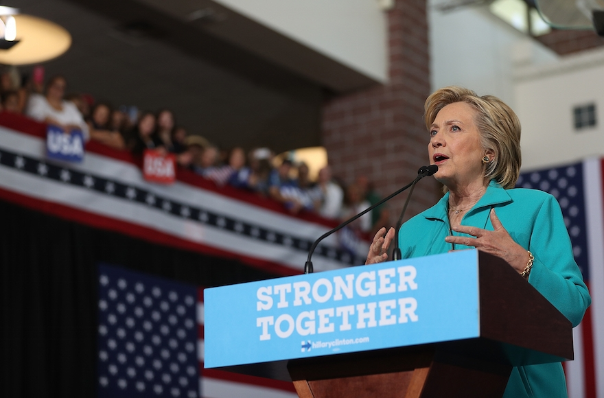 Hillary Clinton speaking during a campaign event at Truckee Meadows Community College in Reno, Nevada, Aug. 25, 2016. (Justin Sullivan/Getty Images)