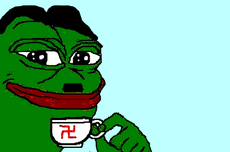 Pepe the Frog, an internet meme, has become a symbol of the alt-right. (Twitter)