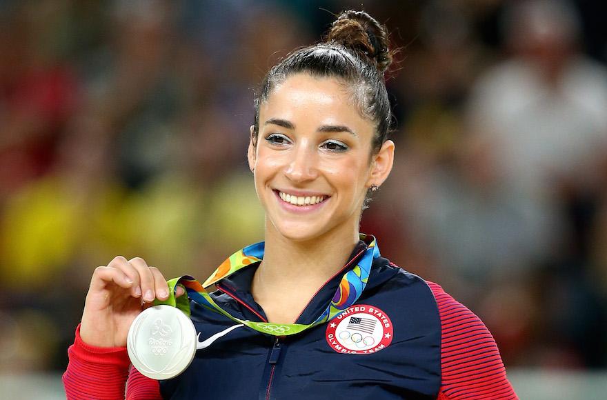 Aly raisman wins third medal at rio olympics jewish telegraphic