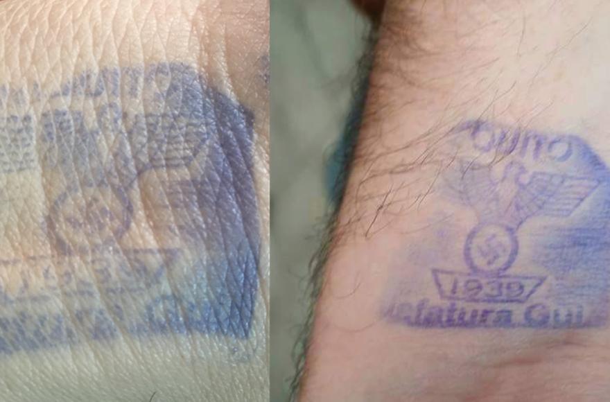 Nazi hand stamps Ecuador jail