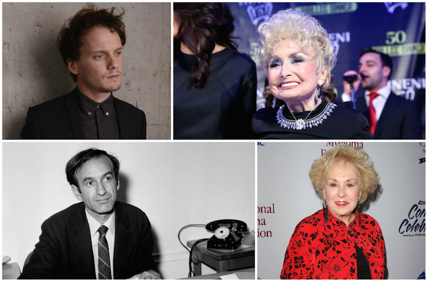 Clockwise from top left: Anton Yelchin, Esther Jungreis, Doris Roberts and Elie Wiesel. (Getty Images)