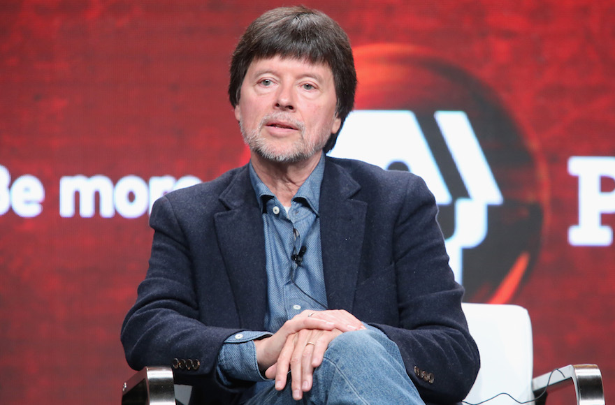 Ken Burns speaking during a 'Defying the Nazis: The Sharps' War' panel discussion at the PBS portion of the 2016 Television Critics Association Summer Tour at The Beverly Hilton Hotel, July 28, 2016. (Frederick M. Brown/Getty Images)