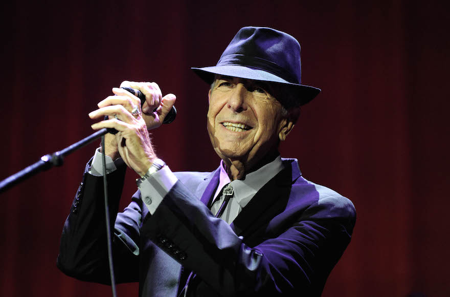 Leonard Cohen in concert at London's O2 Arena, Sept. 15, 2013. (Brian Rasic/Getty Images)