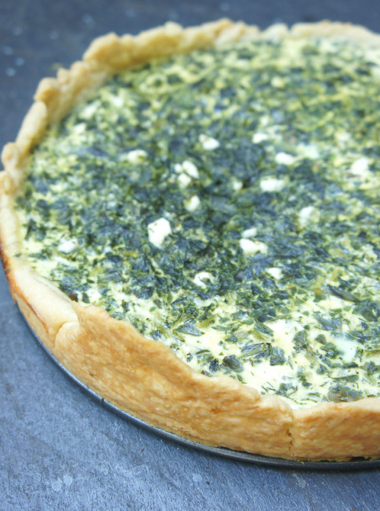 Spinach, herb and feta quiche. (Shannon Sarna)