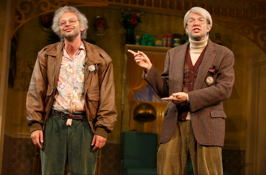 "Nick Kroll, left, and John Mulaney star in ""Oh, Hello on Broadway."" (Joan Marcus) Directed By: Alex Timbers"