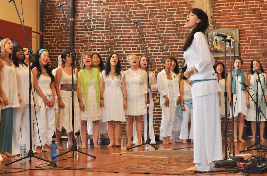 Wheeler leading the non-auditioned choir in 2013. (Courtesy of Wheeler)