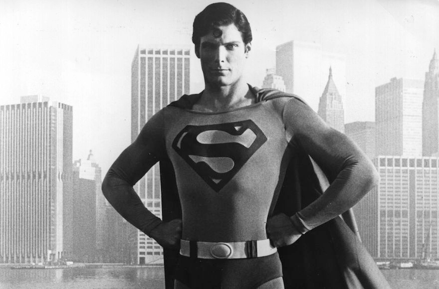 Christopher Reeve dressed as Superman. (Keystone/Getty Images)