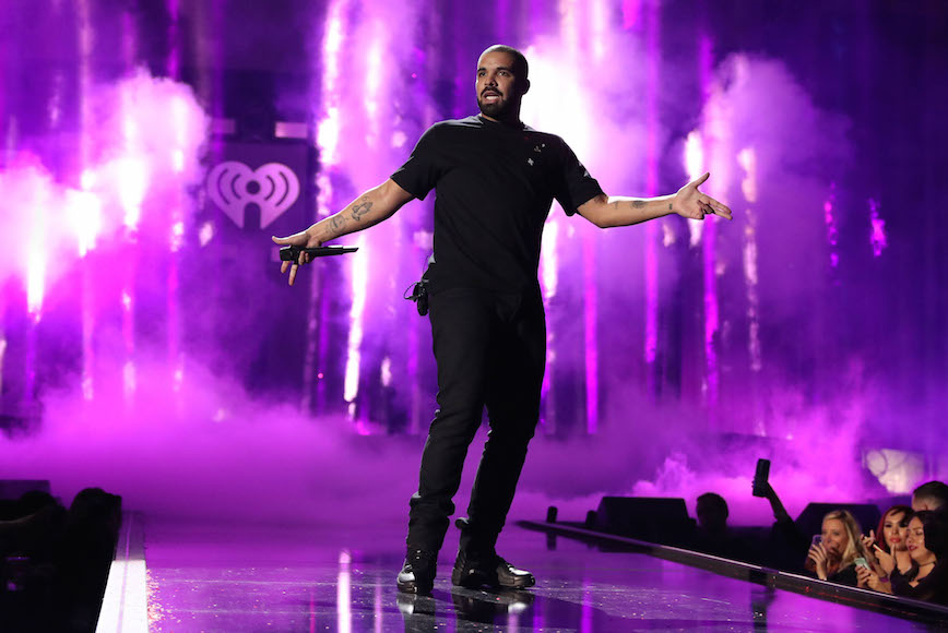 Drake performing onstage at the 2016 iHeartRadio Music Festival at T-Mobile Arena in Las Vegas, Sept. 23, 2016. (Christopher Polk/Getty Images for iHeartMedia)