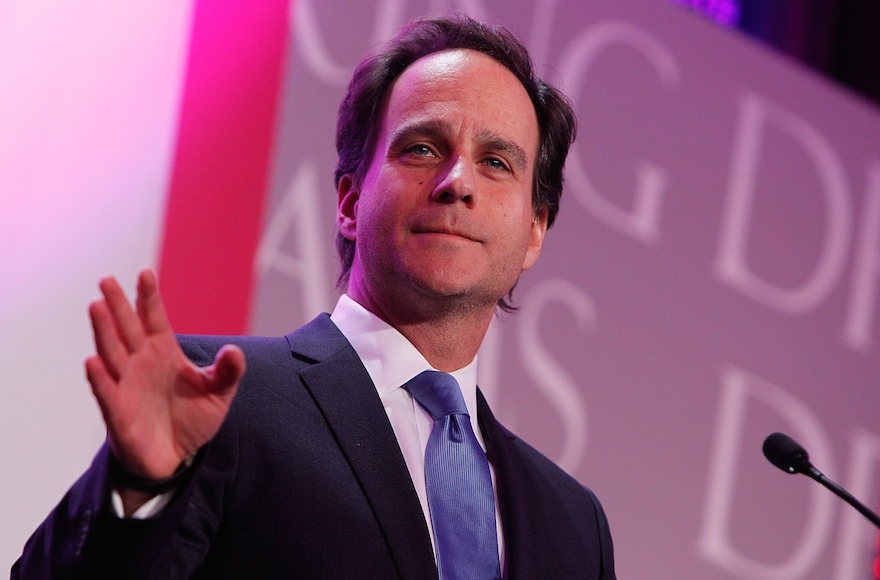 Rabbi Jonah Pesner speaking at the Thurgood Marshall College Fund 27th Annual Awards Gala at the Washington D.C. Hilton, Nov. 16, 2015. (Paul Morigi/Getty Images for Thurgood Marshall College Fund)