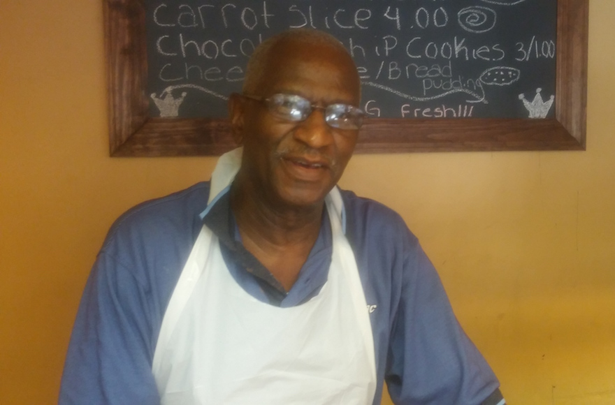Alvin Lee Smalls, 75, has been selling rugelach in Harlem ever since he found and improved upon a recipe in a newspaper in 1964. (Ben Sales)