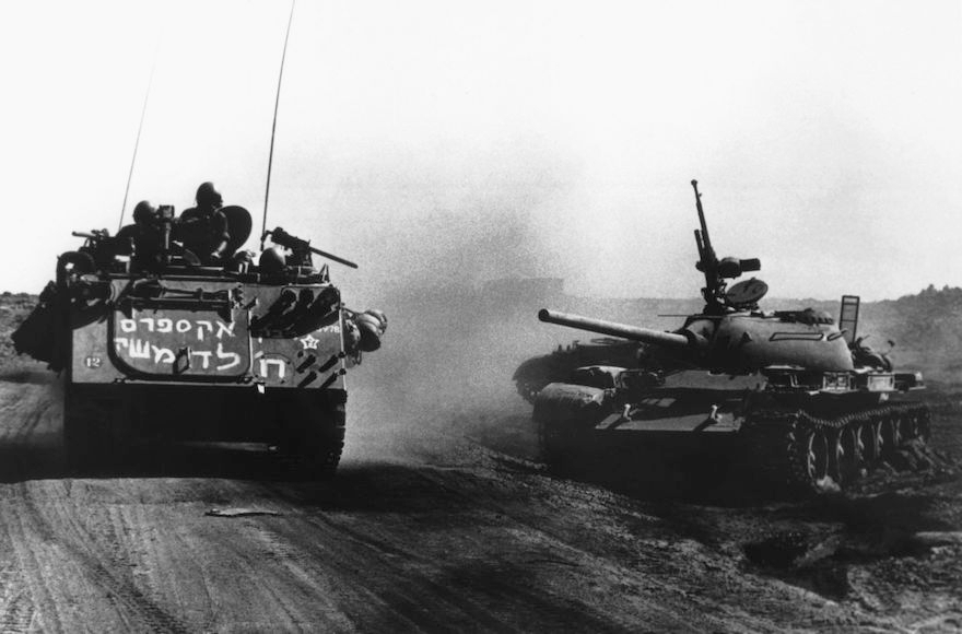 Israeli tanks on the Golan plateau, during the Yom Kippur War, 1973. (Keystone-France/Gamma-Keystone via Getty Images)