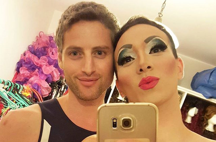 Lior Yisraelov, right, taking a selfie with her partner, Yuval Shimron, Oct. 25, 2016. (Courtesy of Suzi Boum)