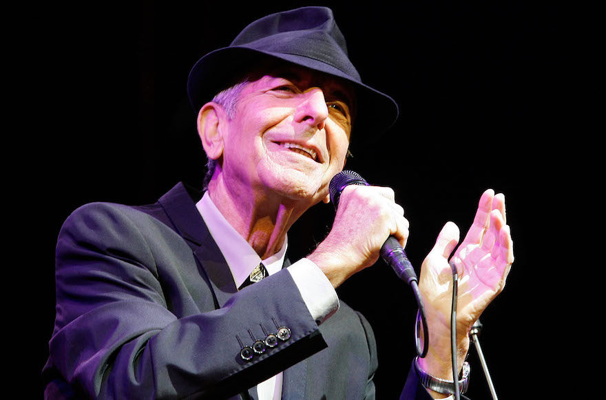 Leonard Cohen performing during the Coachella Valley Music & Arts Festival 2009 at the Empire Polo Club in Indio, Cali., April 17, 2009. (Paul Butterfield/Getty Images)