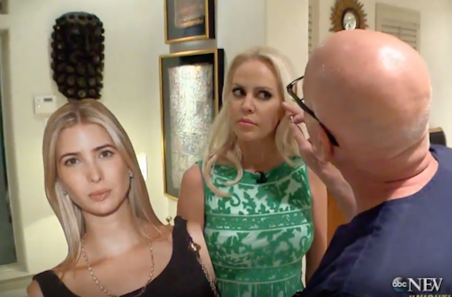 Jenny Stuart with Dr. Franklin Rose, who performed surgery on her to look like Ivanka Trump. (Screenshot from YouTube)