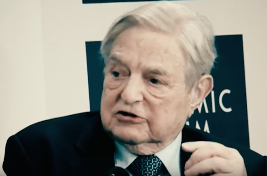 George Soros and other Jewish figures appear in Donald Trump's final campaign video. (Screenshot from YouTube)