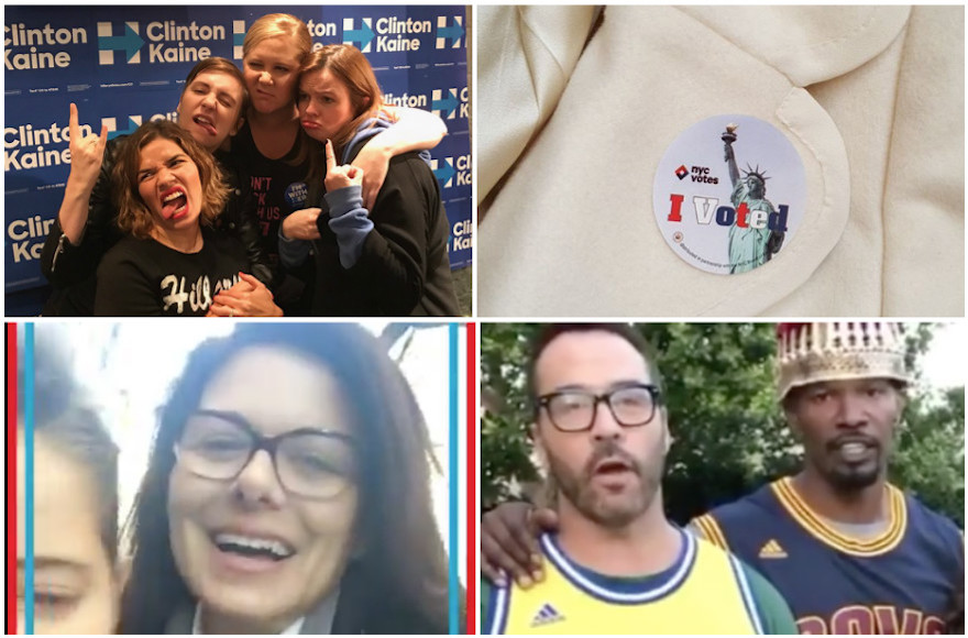 Jewish celebrities shared their feelings on social media on and before Election Day. (Instagram)