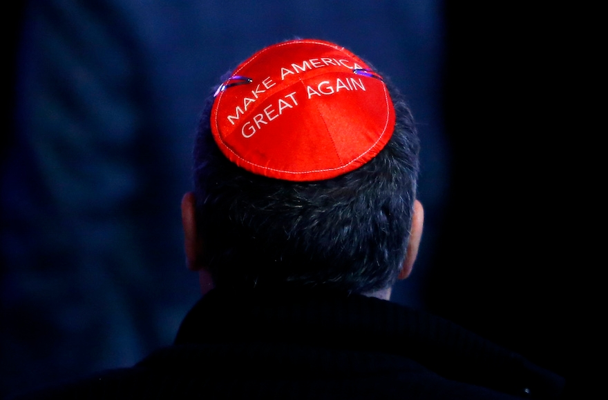 trump kippah make america great again