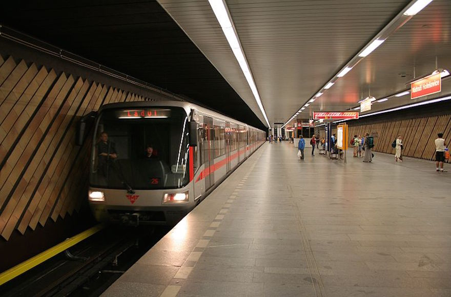 A view of a Prague metro station. (Wikimedia Commons)