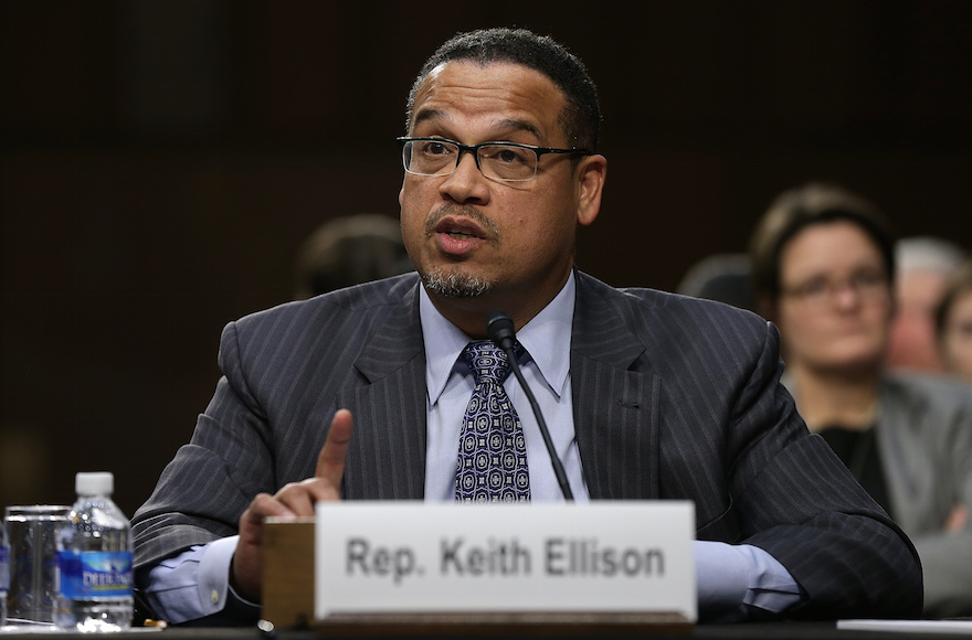 Rep. Keith Ellison testifying before the Senate Judiciary Committee's Constitution, Civil Rights and Human Rights Subcommittee in Washington, D.C., Dec. 9, 2014. (Win McNamee/Getty Images)