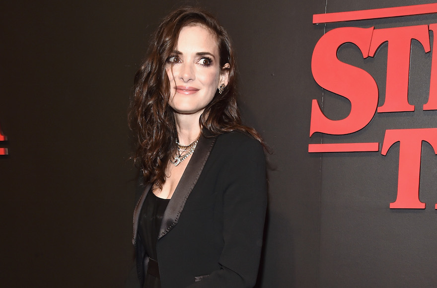 "Winona Ryder attending the Premiere of Netflix's ""Stranger Things"" at in Los Angeles, Cali., July 11, 2016. (Alberto E. Rodriguez/Getty Images)"