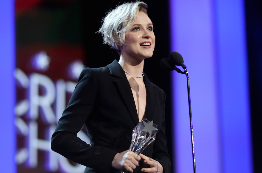 Evan Rachel Wood accepting the Best Actress in a Drama Series award for 'Westworld' onstage during The 22nd Annual Critics' Choice Awards in Santa Monica, Cali., Dec. 11, 2016. (Christopher Polk/Getty Images for The Critics' Choice Awards )