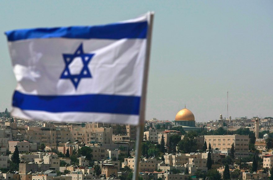 An Israeli flag in East Jerusalem (David Silverman/Getty Images)