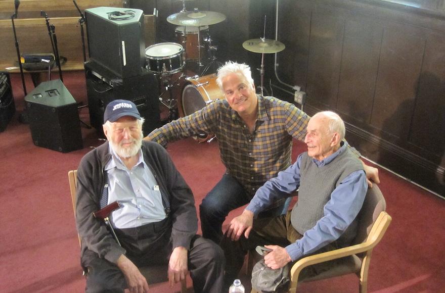 From left to right, Theodore Bikel, Craig Taubman and Myron Gordon (Scott Christianson)